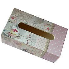 Krabičky - ZÁSOBNÍK/ BOX NA VRECKOVKY obdĺžnik (NEŽNÝ) - 7519479_