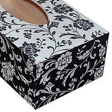 Krabičky - ZÁSOBNÍK/ BOX NA VRECKOVKY obdĺžnik (NA ŽELANIE) - 7519484_