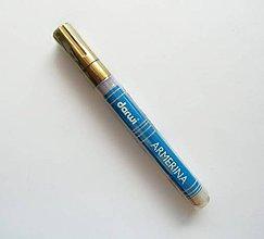 Farby-laky - Fixka na PORCELÁN bez vypaľovania, Darwi, rôzne farby (zlatá) - 7518541_