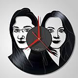 Hodiny - Portrét na želanie IV - Vinyl clocks (vinylové hodiny) - 7517509_