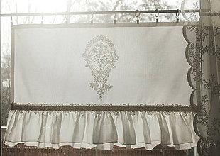 Úžitkový textil - záclonka Romance Rose (kratší) - 7519379_
