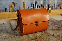 Kabelky - kabelka kožená RONDIE, tmavý oranž, S - 7520052_