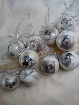 Dekorácie - Vianočné gule Anjeli - 7516725_