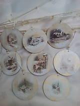 Dekorácie - Vianočné ozdoby Zimná krajinka - 7516747_