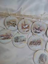 Dekorácie - Vianočné ozdoby Zimná krajinka - 7516748_