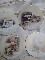 Dekorácie - Vianočné ozdoby Zimná krajinka - 7516751_
