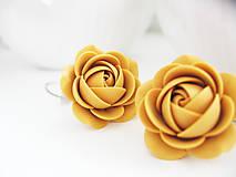 Náušnice - Yellow Ochre, visací náušnice - 7517412_