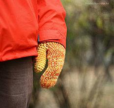Rukavice - REDHEAD - Pletené vlnené merino palčiaky rukavice - 7519569_
