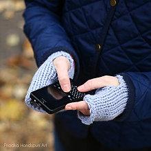 Rukavice - Pletené vlnené rukavice (VLNA+ALPAKA) - 7519946_