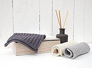 Úžitkový textil - Kúpeľňové žinky sivé - 7520041_
