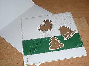 Papiernictvo - Pohľadnica ....vianočné medovníky ..... - 7519257_