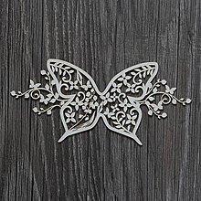 Polotovary - Lepenkový výrez - SUMMER WEDDING motýľ - 7516594_