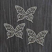 Polotovary - Lepenkový výrez - SUMMER WEDDING motýle - 7516598_