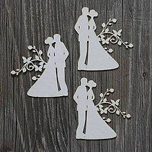 Polotovary - Lepenkový výrez - SUMMER WEDDING páry č.3 - 7516614_