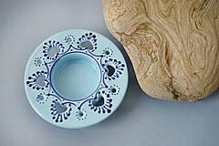Svietidlá a sviečky - Svícen na čajovou svíčku 10 světle modrý - 7516458_