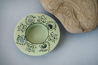 Svietidlá a sviečky - Svícen na čajovou svíčku 10 světle zelený Z - 7517236_