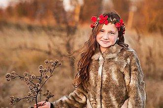Ozdoby do vlasov - Venček s červenými hortenziami - 7519499_
