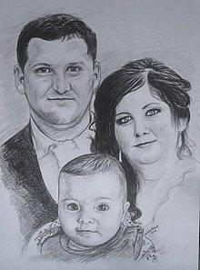 Kresby - rodinka... - 7518424_