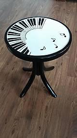 Nábytok - Klavírna stolička - predaná - 7518007_