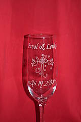 Nádoby - Svadobné poháre + gravirovanie 27 - 7519836_