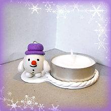 Svietidlá a sviečky - Svietniky na zákazku (guľkáč snehuliak) - 7520157_