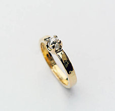 Prstene - Natural diamond bridal ring - 7525730_