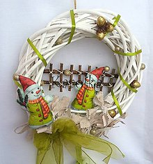 Dekorácie - Vianočný venček  - Postavím si snehuliaka :) - 7522996_