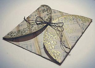 Papiernictvo - Vianočná obálka - noty - 7524796_