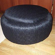Úžitkový textil - N´JOY sedák čierny - madeira - 7522158_