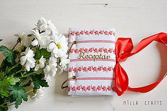 Papiernictvo - Hladkací zápisník - Folkový receptár - 7522650_