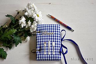 Papiernictvo - Hladkací zápisník - Gingham recipes - 7523764_