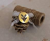 vianočné ozdoby_ šišky zlaté