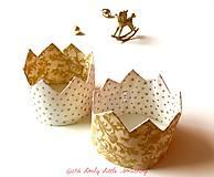 Hračky - Korunka vianočná zlatá - 7522507_