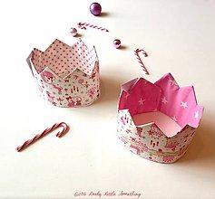Hračky - Korunka vianočná  ružovo-zlatá - 7522537_