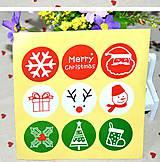 Papier - Vianočné samolepky 5 - 7523020_