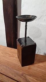 Svietidlá a sviečky - Stĺpikový svietnik, malý - 7525146_