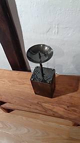 Svietidlá a sviečky - Stĺpikový svietnik, malý - 7525148_