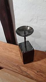 Svietidlá a sviečky - Stĺpikový svietnik, malý - 7525154_