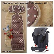 Textil - Podložka autosedačiek 15-36 kg 100% Merino proti poteniu a prechladnutiu - 7523202_