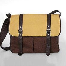 Kabelky - Denver (unisex taška hnedo žltá) - 7521469_