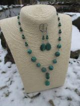 Sady šperkov - Malachitová sada šperkov - 7523513_