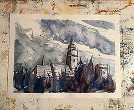 Obrazy - Spišská Belá pod snehom - 7524394_
