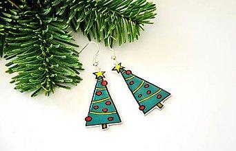 Náušnice - Náušnice Vianočný stromček - 7525868_