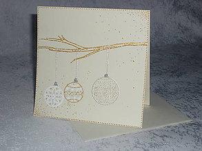 Papiernictvo - Pohľadnica - vianočné gule - 7522125_