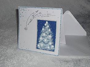 Papiernictvo - Pohľadnica - vianočný, zasnežený... - 7522170_