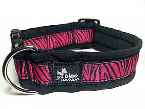 Pre zvieratká - Obojok Pink Zebra - 7525683_