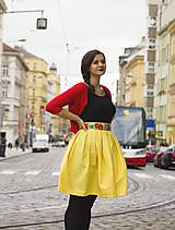 Sukne - folkloristka žltá - 7523693_