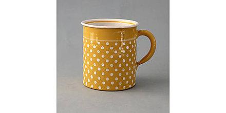 Nádoby - Hrnek rovný puntík 10 žlutý 0,4 l - 7522836_