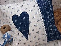 Úžitkový textil - ..vankúšik z modrotlače... - 7522842_