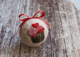 Dekorácie - vianočná guľa Muffin - 7523831_